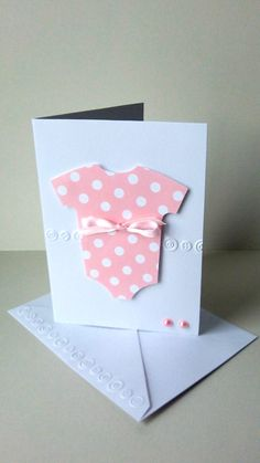baby girl onsie card new baby card baby thank by  JDooreCreations, $3.35 @Crafty Folk