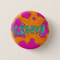Shop Groovy Pinback Button created by KittyKlothing. Peace Painting, Stone Painting, Painting Art, Rock Painting Ideas Easy, Rock Painting Designs, Painted Rocks Craft, Peace Signs, Cool Themes, Weird Shapes