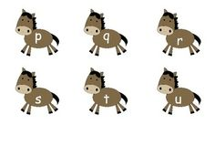 LOWERCASE/UPPERCASE LETTER MATCHING - HORSE AND BARN - TeachersPayTeachers.com