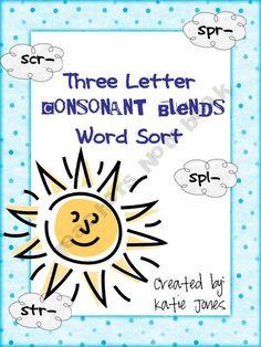 Three Letter Consonant Blend