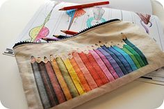 make your own crayon and marker to-go pouches.  diy also shows how to make printable fabric.  good to know.