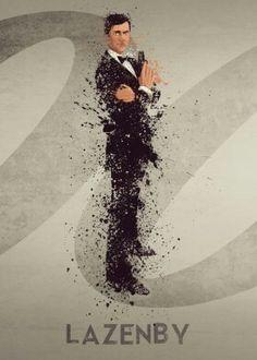 Bond James Bond poster prints by Matt Cooksey James Bond Style, James Bond Theme, James Bond Movies, 007 Casino Royale, Bond Series, Series Movies, George Lazenby, Photoshoot Themes, Pierce Brosnan