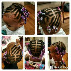 Kids Hairstyles Braids : Toddler cornrows - Hairstyles Trends Network : Explore & Discover the best and the most trending hairstyles and Haircut Around the world Black Baby Girl Hairstyles, Black Kids Braids Hairstyles, Toddler Braided Hairstyles, Natural Hairstyles For Kids, Natural Hair Styles, Summer Hairstyles, Toddler Braid Styles, Little Girl Braid Styles, Toddler Braids