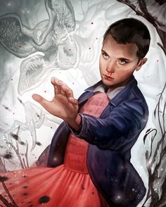"""Eleven"" art by @CrystalGraziano #StrangerThings #Eleven #MillieBobbyBrown…"