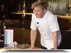 Gordon Ramsay Demonstrates Cooking Techniques at Gordon Ramsay Steak at Paris Las Vegas Gordon Ramsay Steak, Paris Las Vegas, Cooking, Stage, Kitchen, Brewing, Cuisine, Cook