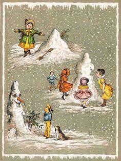 A Victorian snowman (via Cambridge University Library Special Collections)