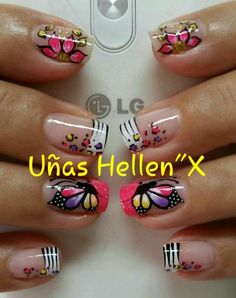 Muy lindas. Pretty Nail Designs, Nail Art Designs, Natural Acrylic Nails, Magic Nails, Nails 2017, Girls Nails, French Tip Nails, Nail Accessories, Fabulous Nails