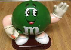 Vintage c.1992 M&M's Candy Dispenser Mr. Green.  by BuyfromGroovy