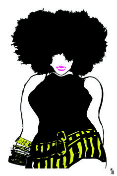 Afro Lady Rhinestone Tee or Tank Lady, Afro and Etsy
