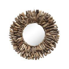 Driftwood Sun Mirror - Nautical Home Collection - Dot & Bo