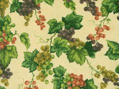 fabrics with grapes Kitchen Decor Items, Appliance Covers, Kitchen Fabric, Basket Liners, Stylish Home Decor, Tissue Box Covers, Quilting Fabric, Craft Items, Fabric Covered