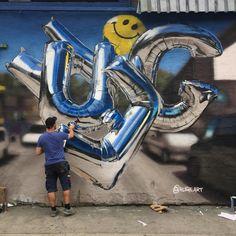 This graffiti - FunSubstance Graffiti Art, Graffiti Designs, Graffiti Styles, Street Mural, Street Art Graffiti, Baroque, Blog Fotografia, Wildstyle, Best Street Art