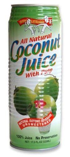 Amy & Brian Natural Coconut Juice with Pulp, 17.5 Ounce Tins (Pack of 12) by Amy & Brian, http://www.amazon.com/dp/B002Z08RIA/ref=cm_sw_r_pi_dp_lpo6pb1KXJYEY