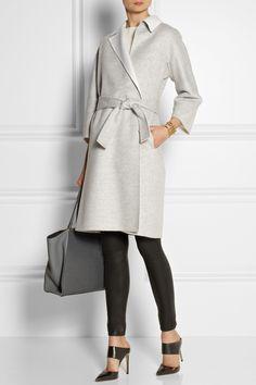 Fendi Two-tone felted-cashmere coat NET-A-PORTER.COM