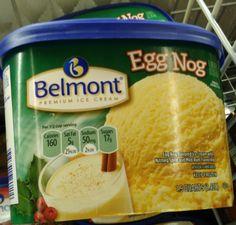 Belmont Egg Nog Ice Cream @ Aldi