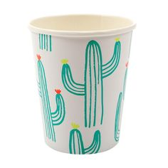 Cool Cactus Printed Party Cups By Meri Meri. Tropical Partyware For Stylish Summer Parties and Events. A set of stylish party cups with cactii designs in bright colours, perfect for a summer celebration. Anniversaire Cow-boy, Mexican Fiesta Party, Fiestas Party, Luau Party, Flamingo Party, Fun Cup, Party Cups, Cactus Print, Party Shop
