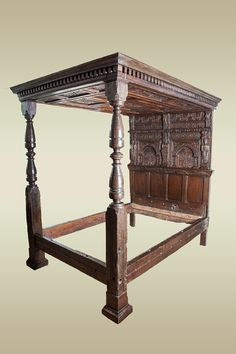 Elizabethan joined oak tester bed, West Country, circa 1590. Marhamchurch antiques