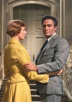 "Julie Andrews and Christopher Plummer in ""The Sound of Music"" ~ This was the scene right after Captain Von Trapp and his wife, Maria, returned from their honeymoon.  He tells Maria that he received a telegram from Berlin informing him that he had to report to the naval base there.  Captain Von Trapp told Maria to get the children prepared to leave so that they could flee the Nazis.  via plummerchristopher.tumblr.com"
