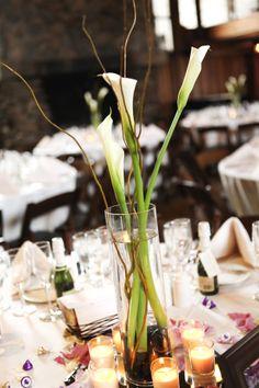 simple elegant calla lily wedding centerpieces | Simple, Elegant Calla Lilly Centerpieces
