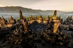 The Borobudur is the largest Buddhist monument in the world. It's located on Java, Indonesia. A sunrise tour at the Borobudur is a must see. It's magical. Enjoy this photo gallery of the Borobudur sunrise and several places in the area.