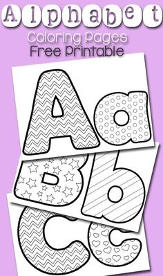 Free printable alphabet coloring pages! These coloring pages are a fun craft for preschoolers who are learning the alphabet! Let your little students practice the alphabet with these fun coloring sheets! Preschool Literacy, Preschool Letters, In Kindergarten, Kindergarten Coloring Pages, Alphabet Coloring Pages, Printable Coloring Pages, Coloring Pages For Kids, Coloring Letters, Coloring Sheets