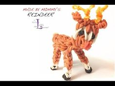Rainbow Loom Reindeer Charm/Figurine **EXPERT LEVEL DESIGN*** Very, very challenging to complete. Requires just one loom, a metal hook, and a lot of rubber bands and persistence! Inspired by PG'. Rainbow Loom Tutorials, Rainbow Loom Patterns, Rainbow Loom Creations, Rainbow Loom Bands, Rainbow Loom Charms, Rainbow Loom Bracelets, Rubber Band Crafts, Rubber Bands, Rainbow Loom Christmas