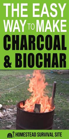 The Easy Way To Make Charcoal and Biochar - Homestead Survival Site Survival Shelter, Survival Food, Homestead Survival, Wilderness Survival, Outdoor Survival, Survival Prepping, Survival Skills, Survival Quotes, Survival Hacks