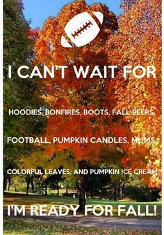 my favorite season is autumn because