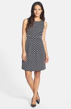 $138, Black and White Polka Dot Skater Dress: Donna Ricco Polka Dot Woven Fit Flare Dress Black White 8p. Sold by Nordstrom. Click for more info: https://lookastic.com/women/shop_items/193375/redirect