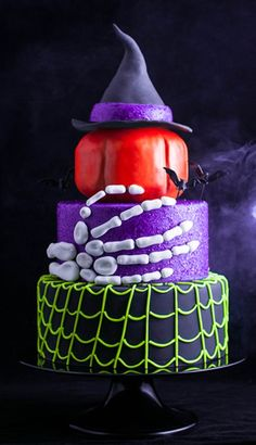 Halloween Cake---lots of great and creative layers.