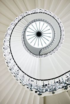 The very beautiful Tulip Stairs at the Queens House in Greenwich in London