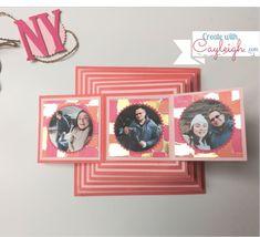 Create With Cayleigh Diy Mini Album, Mini Albums Scrap, Mini Album Tutorial, Mini Scrapbook Albums, Vintage Birthday Cards, Handmade Birthday Cards, Screen Cards, Images Vintage, Card Sentiments