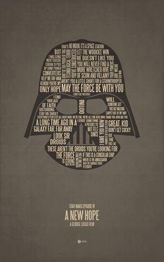 Des silhouettes et citations cultes en un seul poster