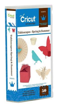 Cricut Tablescapes Spring & Summer Events Cartridge 2001373 #ProvoCraftCricut