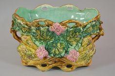 c2e28- Jugendstil Keramik Jardiniere