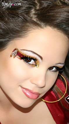 Cherokee Glitter Eye Kit.  Perfect for a Florida State game!!  Seminoles, Noles, Garnet and Gold, FSU, Game Gear, College Football