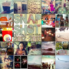 """vacation scrapbooking layout / I love this """"Snap Shot"""" idea for a vacation overview or year in review type layout."""