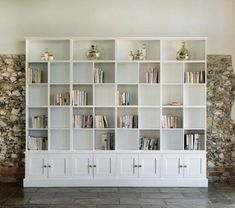 Library of wall storage units