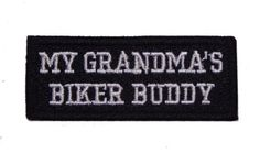 MY GRANDMA'S BIKER BUDDY PATCH FOR KIDS CHILDREN VEST JACKET NEW