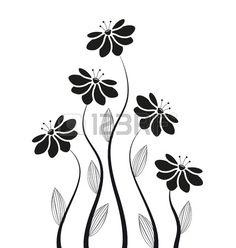 sagome di fiori su uno sfondo bianco photo