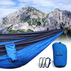 bOutdoors Lightweight Portable Nylon Parachute Hammock with Straps and Steel Carabiners >>> Additional details at the pin image, click it : Hammock tent Hammock Tent, Hammock Underquilt, Double Hammock, Outdoor Furniture, Outdoor Decor, Cribs, Steel, Crescent Womb, Hammocks