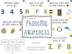Speechy Musings: A phonemic awareness powerpoint. That means no cutting, laminating, or printing! It gives your students instant feedback about right or wrong answers! Preschool Speech Therapy, Speech Therapy Activities, Speech Language Pathology, Speech And Language, Reading Activities, Reading Skills, Phonemic Awareness Activities, Articulation Activities, Phonological Awareness