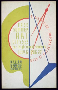 Library of Congress: WPA Poster, Design Laboratory Summer Arts Classes