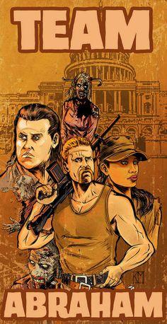 Abraham, Eugene, and Rosita #TWD