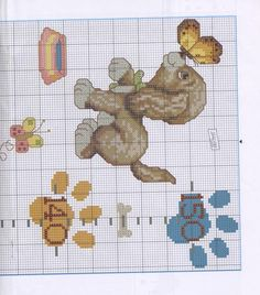 Cross Stitch For Kids, Cross Stitch Baby, Cross Stitch Patterns, Everything Cross Stitch, Dog Pattern, Kids Rugs, Sewing, Crafts, Cocker Spaniel