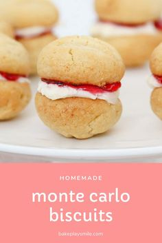 Frugal Food Items - How To Prepare Dinner And Luxuriate In Delightful Meals Without Having Shelling Out A Fortune Simple And Delicious Homemade Monte Carlo Biscuits That Taste Just As Good As The Original Arnott's Version Monte Carlo Biscuits, Baking Recipes, Cookie Recipes, Australian Food, Aussie Food, Chip Cookies, Star Cookies, Mini Cookies, My Favorite Food