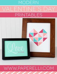 Modern Valentine's Day Prints — Paperelli