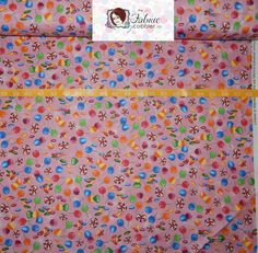 IN STOCK Candyland Candy Toss Pink - Game Original Artwork Quilting Treasures - See description for full prices - BTY