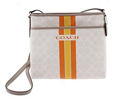 Coach Varsity Stripe File Crossbody Bag *** You can get more details by clicking…