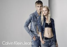 Victor Nylander and Linde Derrick by Marc de Groot for Calvin Klein Jeans Spring 2016 Campaign